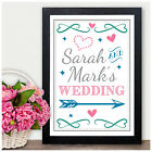 PERSONALISED Wedding This Way Direction Sign - Wedding Sign Information Mr Mrs