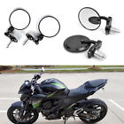"BLACK MOTORCYCLE FOLDABLE BAR END REAR VIEW MIRRORS 7/8"" HANDLEBAR HAND GRIPS $22.32 USD on eBay"
