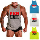 Gym Mens Bodybuilding Tank Tops Muscle Stringer Athletic Fittness Shirts Clothes