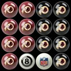 NFL Billiard Ball Set - The Ultimate Washington Redskins Fan Pool Table Ball Set $384.51 USD on eBay
