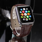 Genuine Leather Strap Wrist Bands for i Watch A pple Watch Series 4 44mm
