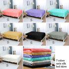 Bed Skirt Satin Silk Wrap Around Dust Ruffle 14 Inch Drop Elastic Bedding Bed image