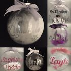Personalised Christmas Bauble EXTRA LARGE 100mm fully bespoke designs FREE P&P