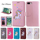 Unicorn Leather Magnetic Wallet Stand Card Case Cover For iPhone XS Max XR 8 7 6