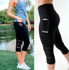Damen YOGA Mesh Hose Fitnesshose Leggings Gym Laufhose Sporthose Sports Leggins