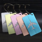 2Pcs Brushed Aluminium Luggage Tags Suitcase Label Address ID Baggage Tag Travel