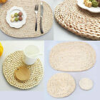 Rattan Mats Straw Cup Coasters Dining Table Mat Heat Drink Coaster Kitchen Decor