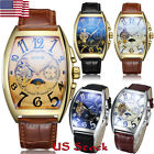 Men's Sport Watch Genuine Leather Strap Automatic Wrist Watch Mechanical Watches image