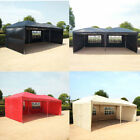 6x3m Waterproof Pop Up Gazebo Canopy Party Picnic Rapid-tent With Sides And Bag