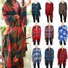 LARGE Blanket Thick SCARF 100 Cashmere Wool Stole Shaw Wrap Made in Scotland