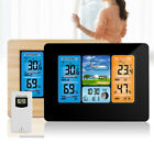 Digital LCD Weather Station Indoor Outdoor Wireless Thermometer Clock Calendar