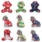 Christmas Pet Dog Jumpsuit Pajamas Puppy Cat Coat Clothes Xams Costume Apparel