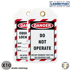Leaderman reusable Lockout/off Danger Safety Tags Do Not Operate Sign LMTAG3