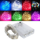 4x8x10x Led String Copper Wire Fairy Lights Battery Xmas Party Fairy Decor Lamp