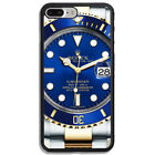 Best New Rolax Submariner Blue Logo Hard Cover Phone Case For iPhone and Samsung