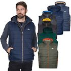 Trespass Franklyn Mens Insulated Hooded Gilet in Green Black & Navy