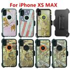 For Apple iPhone XS Max Defender Camo Case Cover w/Clip/Kickstand fits Otterbox