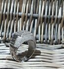 Sterling Silver Rhodium Plated CZ 3D Micro Pave Wedding Ring Pinky Mens