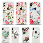 Floral Clear Pattern Slim Back Case Cover for Apple iPhone XS XR X 6s 7 8 Plus