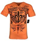 XTREME COUTURE by AFFLICTION Men T-Shirt TRIBUTE Biker Wings MMA GYM S-2X $40 image