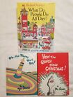 LOT - Richard Scarry's What Do People Do All Day? & Dr.Deuss - Oh, The Places...