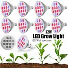 LOT 12W LED Grow Lights Bulb Growing Lamp for Indoor Plants High Efficient ZM
