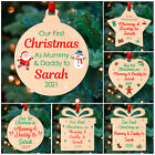 1st First Christmas as Mummy and Daddy PERSONALISED Xmas Tree Decorations Bauble