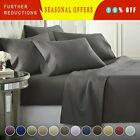 DEEP POCKET 1800 COUNT BAMBOO SERIES 6 PIECE BED SUPER SOFT SHEET SET MOST SIZES image