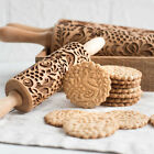 Внешний вид - Engraved rolling pin wooden laser cut ANY PATTERN unique design cookies embossed
