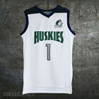 #1 Huskies Lamelo Ball Basketball Jersey High School Throwback White