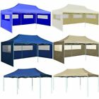 10x20ft Foldable Gazebo Pop Up Waterproof BBQ Party Tent Garden Canopy Marquee