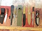 5 Nice Never Used  selling as Used Knife Lot of FIxed Blades and Daggers