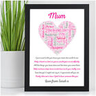 Mummy Mum Nanny Nan Granny Auntie Personalised Birthday Christmas Gifts for Her