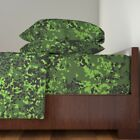 Flacktar Russian Temperate Flecktarn Camo Cotton Sateen Sheet Set by Roostery