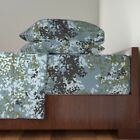 Urban Flecktarn Camo Camouflage Cotton Sateen Sheet Set by Roostery