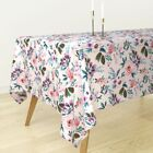 Tablecloth Floral Flower Roses Watercolor Baby Girl Fashion Cotton Sateen
