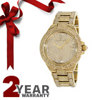 Michael Kors Watch MK5720 Camille Gold Pave Dial Crystal Encrusted For Women's