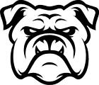 Bulldog Face Outline vinyl decal/sticker cute animal Dog Family Pet