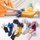Candy Color Leg Warmers  Cotton Big Bow Long Socks Baby Sock High Knee Sock