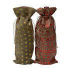 Внешний вид - New Wine Bottle Cover Bags Christmas Wine Bottle Decor Drawstring Bag Gift Cover