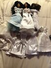 Lot Of 3 Vintage Kira Christie Dolls With 9 Barbie And Handmade Wedding Dressed