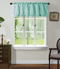 1PC VALANCE SWAG TOPPER SHUBBY SOLID SOFT VOILE SHEER FABRIC WINDOW RUFFLE GYPSY