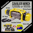 """Cavalier 12V Winch with 3/8"""" Rope 12000lb or 9500lb - Includes Fairlead - AX4"""