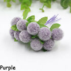 Simulation of Artificial Flower Bouquets of Lint Ball Bubble Xmas Decor New!