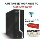 Small Acer Desktop Computer Dual Core AMD 3.80GHz Office PC SSD Windows 10 SFF