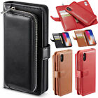 Leather Zipper Wallet Removable Case Cover For iPhone Xs Mas Xr X 6 6s 7 8 Plus