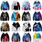 Внешний вид - New Galaxy 3D Print Kids Boys/Girls Hoodie Sweatshirt Pullover Jumper Coat Xmas