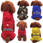 Pet Dog Hooded Raincoat Jacket Puppy Outdoor Waterproof Jumpsuit Coat Clothes US