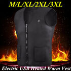 Electric USB Heated Warm Vest Men Women Heating Coat Jacket Clothing Skiing lot