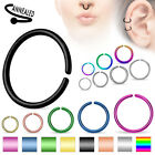 C Shaped Septum Nose Ring Annealed Titanium Hoop Tragus Cartilage 14,16,18, 20G image